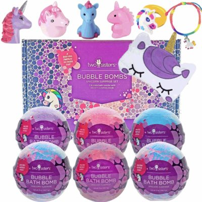 This is an image of a Unicorn bubble bombs for kids.