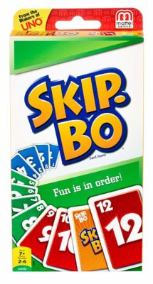 This is an image of a Skip Bo sequencing card game.