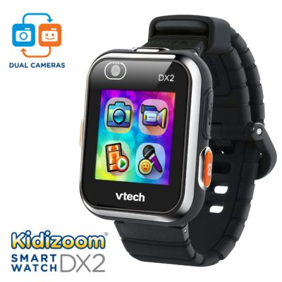 This is an image of a black Kidizoom kid's smartwatch.