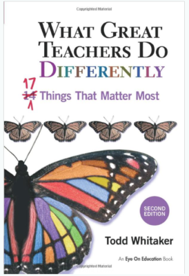 This is an image of an inspirational book for teachers.