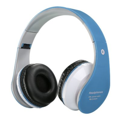 This is an image of a blue bluetooth wireless headphones for kids.