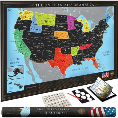 This is an image of a USA wall map poster.