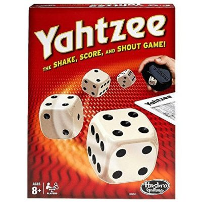 This is an image of a Yahtzee dice rolling game for kids.