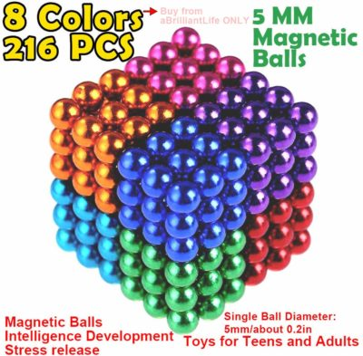 This is an image of a multicolor magnetic cube for kids.