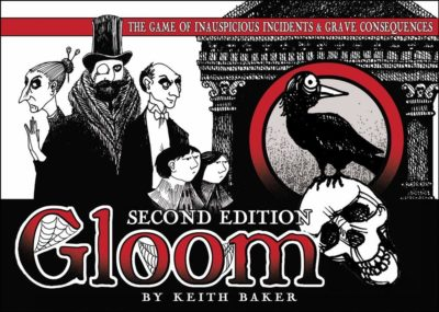 This is an image of a Gloom board game in 2nd edition by Atlas.