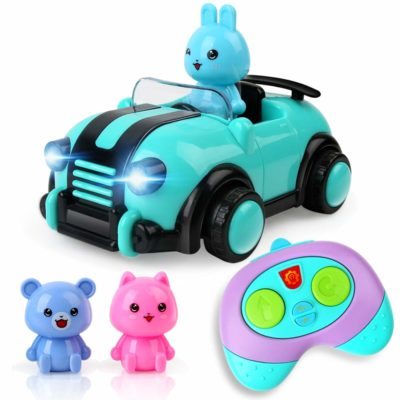 This is an image of a cartoon rc cars with action figures by Beebeerun.