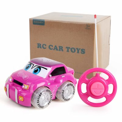 This is an image of a pink rc car by Beebeerun.