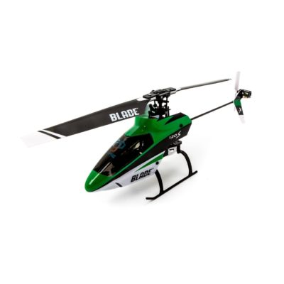 This is an image of a green Blade 120 SR rc helicopter.