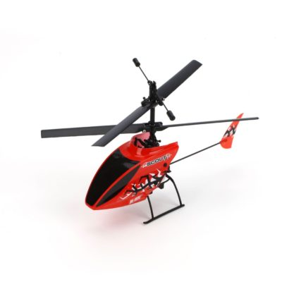 This is an image of a red Scout CX RTF rc helicopter.