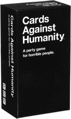 This is an image of a party card game by Cards Against Humanity.