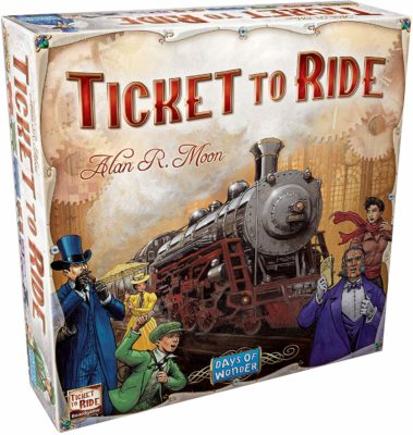 This is an image of a board game called Ticket to Ride by Days of Wonder.