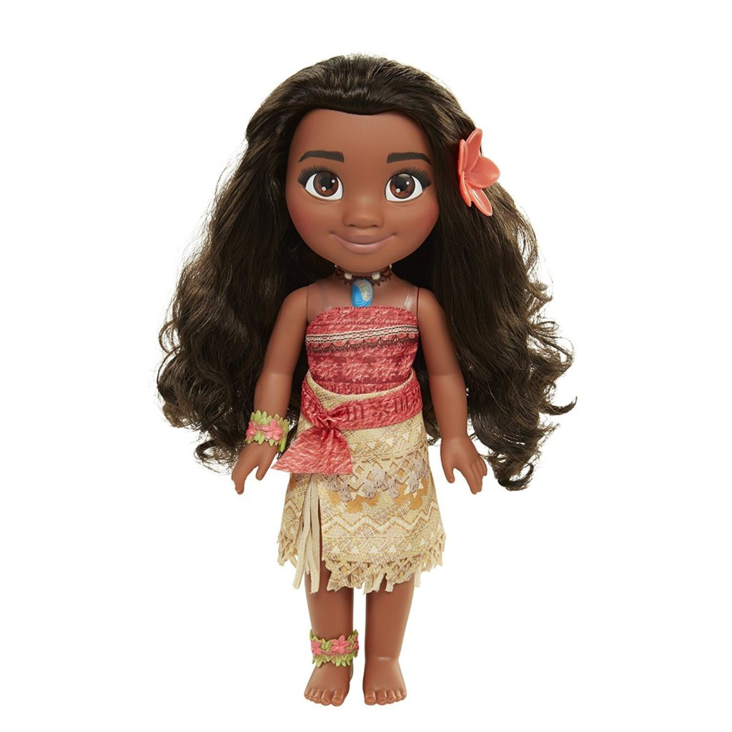 This is an image of a Moana doll by Disney.