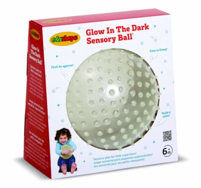 This is an image of a glow in the dark ball for kids by Edushape.