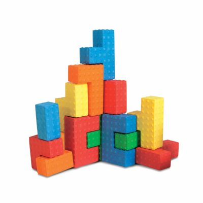 This is an image of a foam puzzle blocks by Edushape.