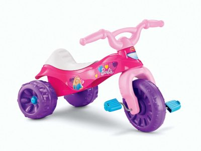 This is an image of a pink ride on Barbie Trike.