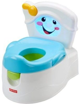 This is an image of an interactive potty training toilet toy for little kids.