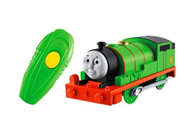 This is an image of a Percy Train from Thomas and Friends rc train by Fisher Price.