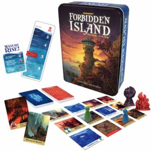 This is an image of a Forbidden Island card game by Gamewright.