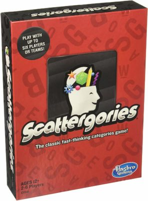 This is an image of a board game called Click image to open expanded view Scattergories by Hasbro Gaming.