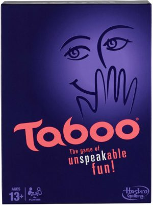 This is an image of a Taboo game by Hasbro Gaming.