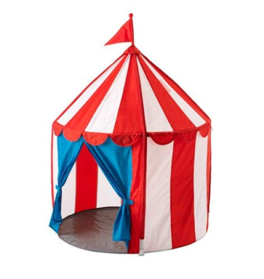 This is an image of a playhouse tent for kids by IKEA.