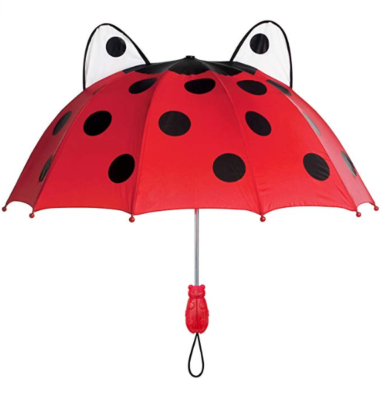 This is an image of a red ladybug umbrella for kids by Kidorable .