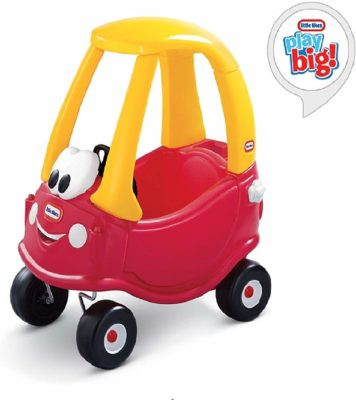 This is an image of a cozy coupe ride on toy by Little Tikes.