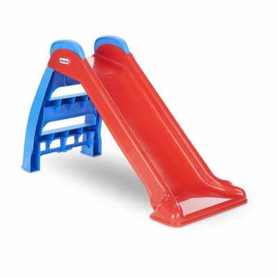 This is an image of an indoor and outdoor slides for kids by Little Tikes.