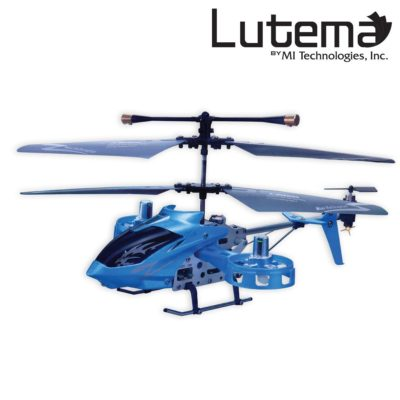 This is an image of a blue Avatar mini helicopter by Lutema.