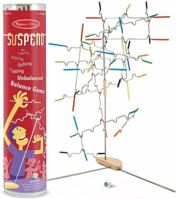 This is an image of a balance game called Suspend by Melissa and Doug.