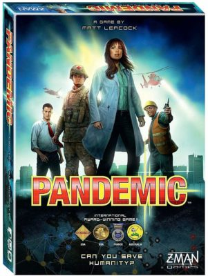 This is an image of a cooperative game called Pandemic by Z-Man Games.