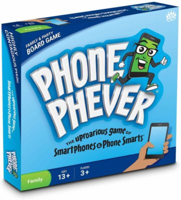 This is an image of a smartphone related board game by Phone Phever.