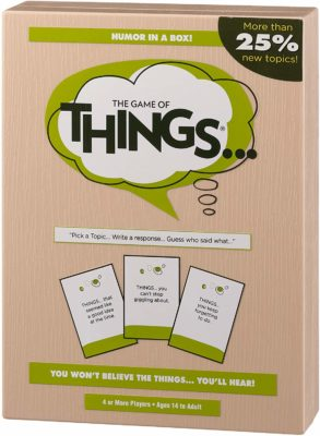 This is an image of a board game called The Game of Things.. by PlayMonster.