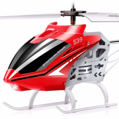 This is an image of a red S39 Aircraft by SYMA.