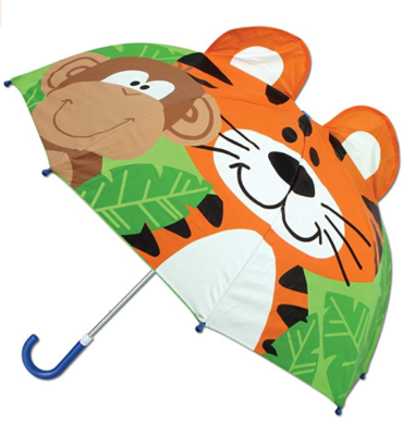 This is an image of a zoo animals print umbrella by Stephen and Joseph.