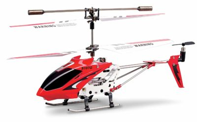 This is an image of a red S107 rc helicopter by Syma.