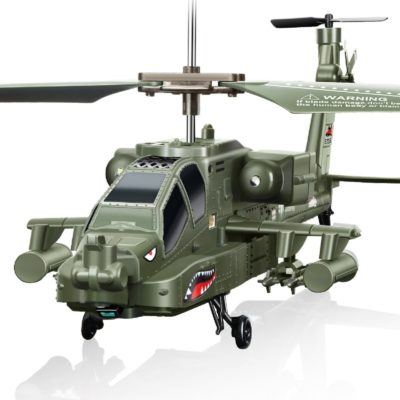This is an image of a green S109G RC helicopter by Syma.