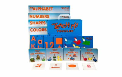 This is an image of an educational learning kit for toddlers.