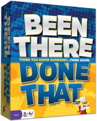 This is an image of an icebreaker game called Been There Done That by The Game Chef.