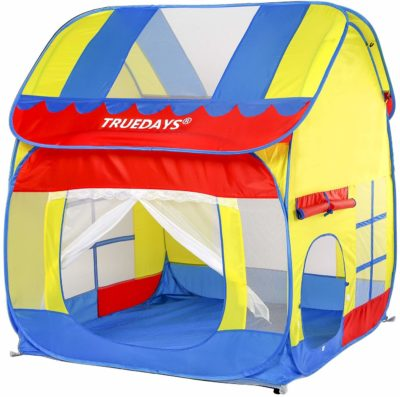 This is an image of an outdoor and indoor kid's play tent by Truedays.