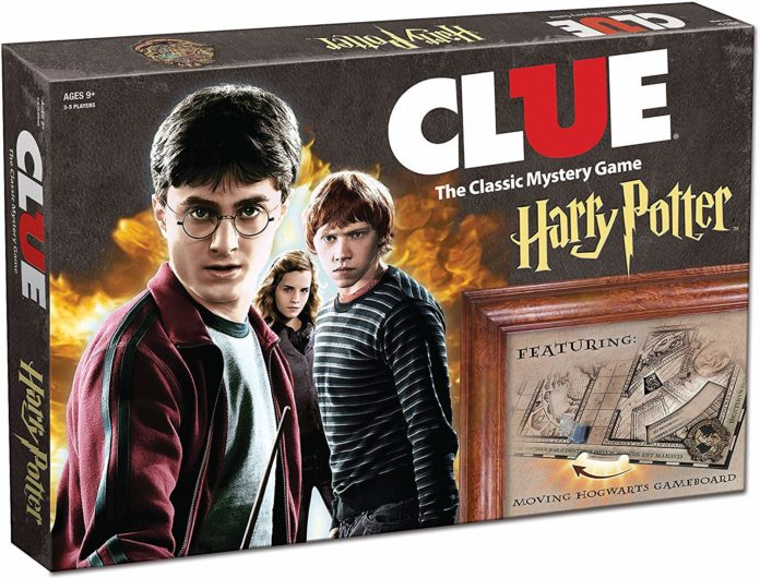 This is an image of a Harry Potter mystery game called Clue by USAOPOLY.