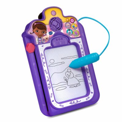 This is an image of a Doc McStuffins electronic clipboard by VTech.