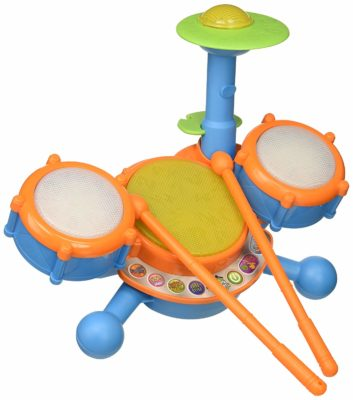 This is an image of a drum set toy by VTech.