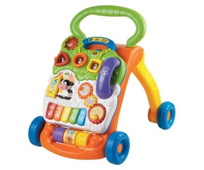 This is an image of an educational toy walker for kids by VTech.