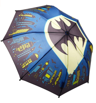 This is an image of a batman everlasting character umbrella for kids by Western Chief.