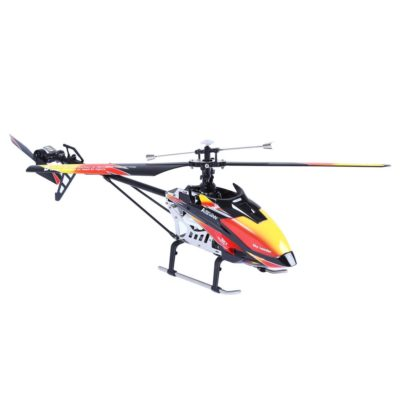This is an image of a red and black V913 rc helicopter by Wltoys.