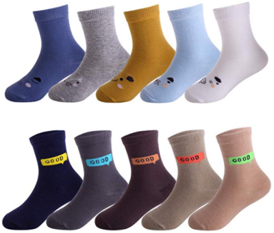 This is an image of boy's 10 pairs socks in different colors