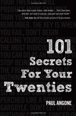 This is an image of a black book of secrets for 20s.