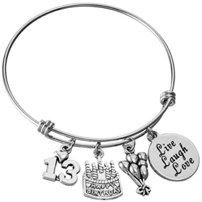 This is an image of girl's 13th birthday steel bandle in silver color
