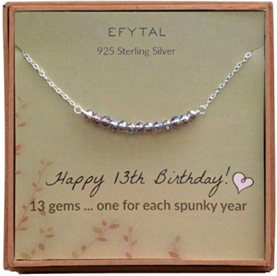 This is an image of girl's 13th birthday neckless